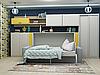 Односпальная шкаф-кровать с диваном