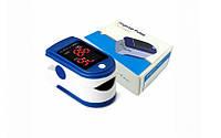 Портативный пульсоксиметр на палец, Пальчиковый пульсоксиметр для измерение кислорода в крови, фото 1