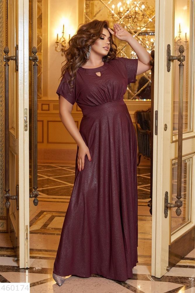 Шикарное женское платье в пол длинное батал большие Размеры