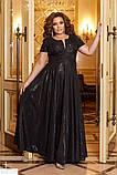Шикарное женское платье в пол длинное батал большие Размеры, фото 5