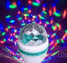 Светодиодная диско лампа LASER Rotating lamp + переходник в розетку, фото 3