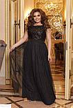 Шикарное платье длинное в пол батал большие Размеры, фото 2