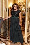 Шикарное платье длинное в пол батал большие Размеры, фото 3