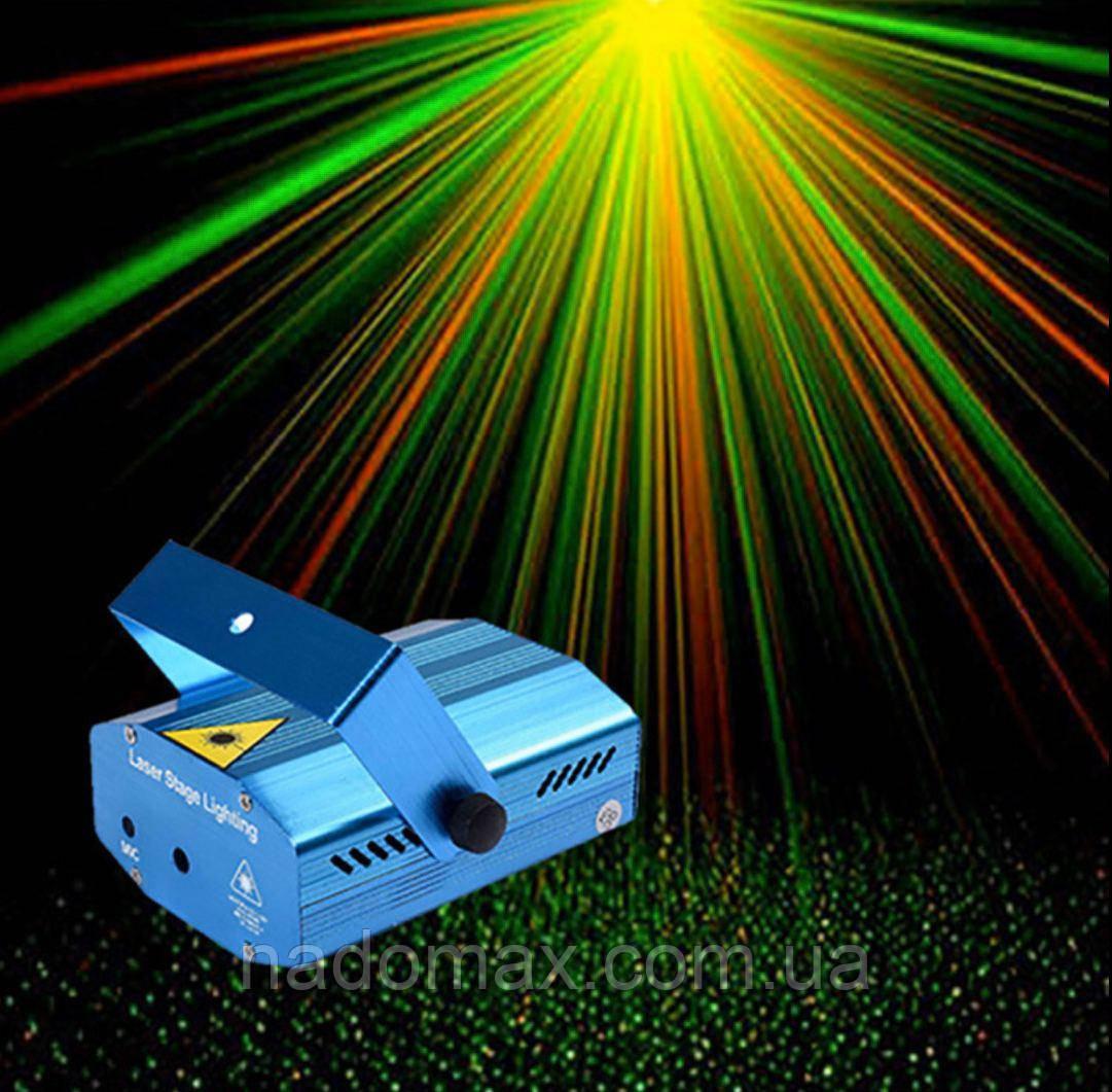 Лазерный проектор Точки мини лазер 2 цвета ,точка 7197
