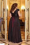 Шикарное платье длинное в пол батал большие Размеры, фото 5