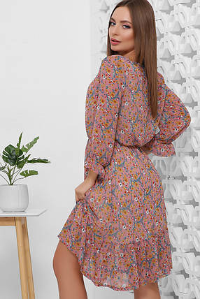 Платье шифоновое воздушное романтичное весенне-летнего образа талия на резинке, фото 2