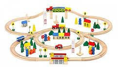 Деревянная железная дорога путь 100 элементов 6864