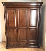 Гардеробный 3х дверный шкаф Шопен для одежды из массива дерева, фото 1
