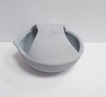 Тигель c карбидом кремния, чаша с носиком и закрытым верхом (соусница) d-70 мм.
