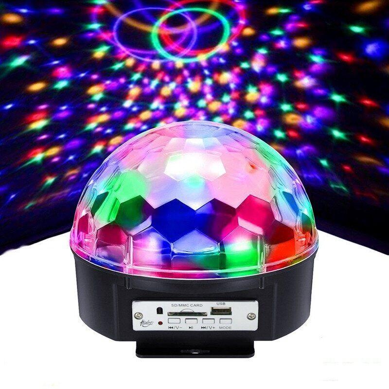 Светодиодный музыкальный диско шар   Доско сфера   Диско лампа Magic ball MP3 220V