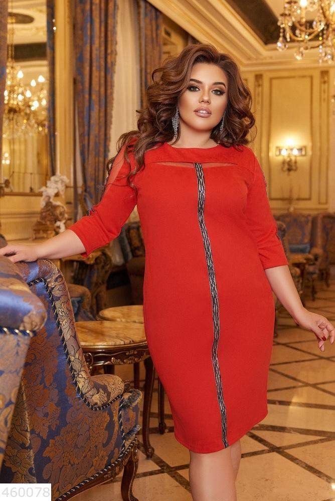 Женское красивое платье батал большие Размеры