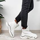 Зимние женские белые кроссовки, экокожа, фото 3
