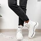Зимние женские белые кроссовки, экокожа, фото 4