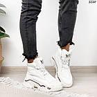 Зимние женские белые кроссовки, экокожа, фото 5