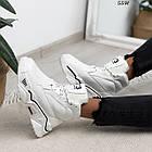 Зимние женские белые кроссовки, экокожа, фото 7