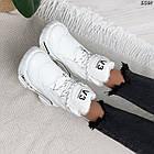 Зимние женские белые кроссовки, экокожа, фото 8