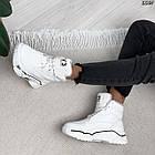 Зимние женские белые кроссовки, экокожа, фото 10