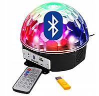 Светодиодный музыкальный диско шар Bluetooth | Доско сфера | Диско лампа Magic ball MP3 220V, фото 1