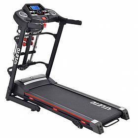 Беговая дорожка с массажером электрического типа изменением угла наклона и максимальной нагрузкой до 110 кг