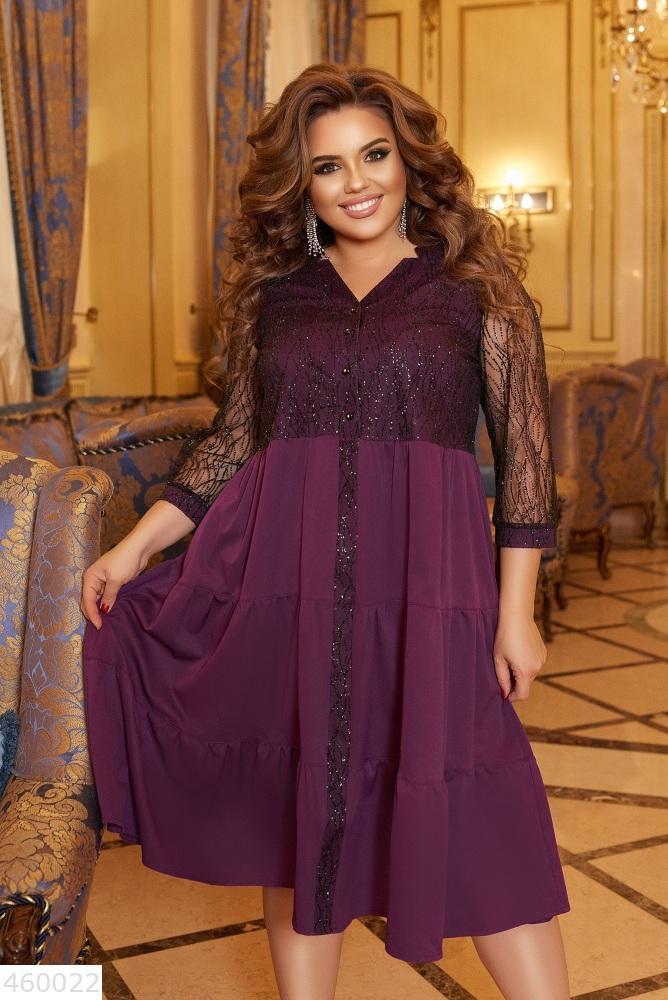 Красивое женское платье батал большого размера