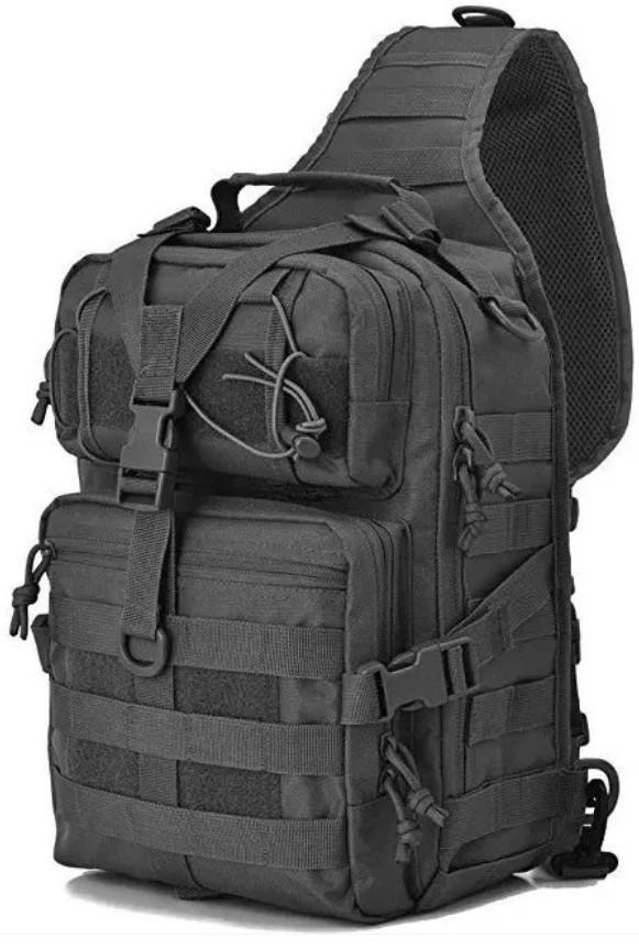 Рюкзак тактичний однолямочный Tactical 15л колір чорний