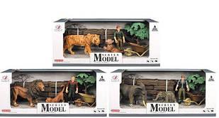 Набор диких животных 3 вида, в коробке