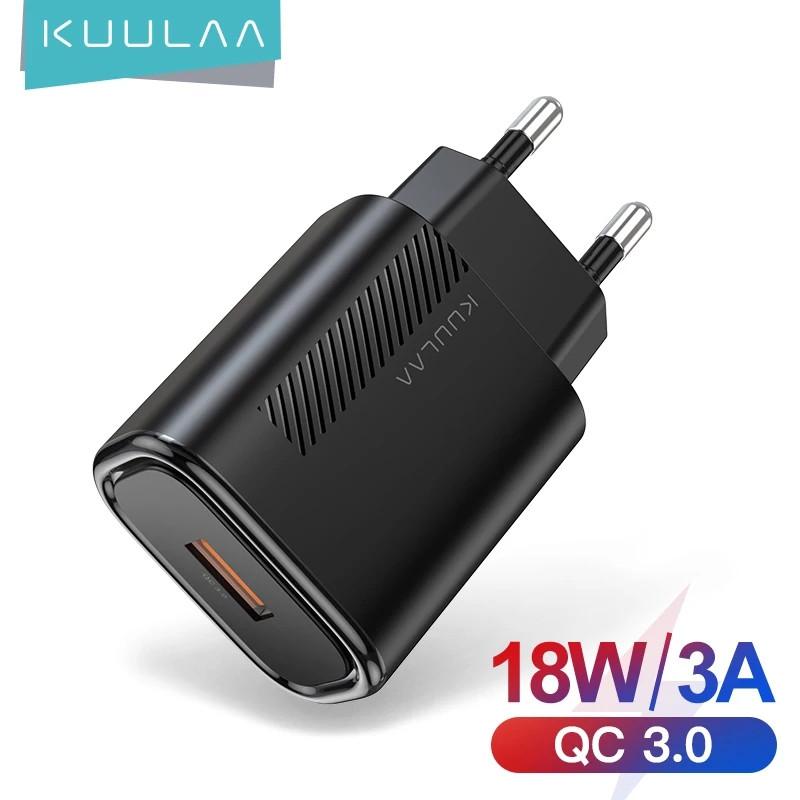 Зарядний пристрій KUULAA KL-CD02 18 вт Швидка зарядка Quick Charge QC3.0 Black