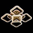 """Потолочная светодиодная люстра """"квадраты"""" 65 Вт античная бронза с подсветкой D-3511/4+1BR LED, фото 4"""