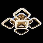"""Потолочная светодиодная люстра """"квадраты"""" 65 Вт античная бронза с подсветкой D-3511/4+1BR LED, фото 2"""