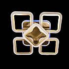 """Потолочная светодиодная люстра """"квадраты"""" 65 Вт античная бронза с подсветкой D-3511/4+1BR LED, фото 3"""