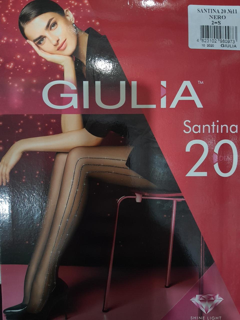 Фантазийные колготки с люрексовым швом Giulia Santina 20 den