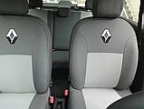 Чехлы в салон для Renault Logan с 2013г модельные Prestige СТАНДАРТ (комплект) Темно-серые, фото 2