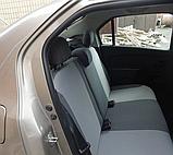 Чехлы в салон для Renault Logan с 2013г модельные Prestige СТАНДАРТ (комплект) Темно-серые, фото 3
