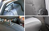 Чехлы в салон для Renault Logan с 2013г (раздельный) модельные Prestige СТАНДАРТ (комплект) Темно-серые, фото 8