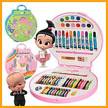 Набор для творчества MK 2111-1 карандаши фломастеры мелки краски 68 предметов игровые наборы