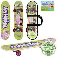 Скейтборд детский Profi LT 0028 Лунтик, салатовый Т