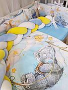 Комплект в детскую кроватку Косичка