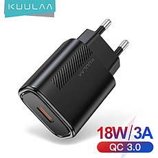 Зарядное устройство KUULAA KL-CD02 18 вт Быстрая зарядка Quick Charge QC3.0 White, фото 2