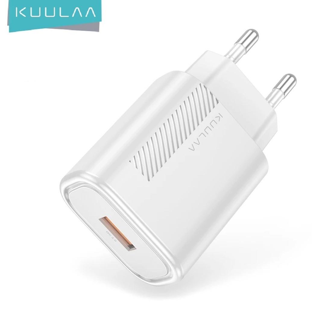 Зарядний пристрій KUULAA KL-CD02 18 вт Швидка зарядка Quick Charge QC3.0 White
