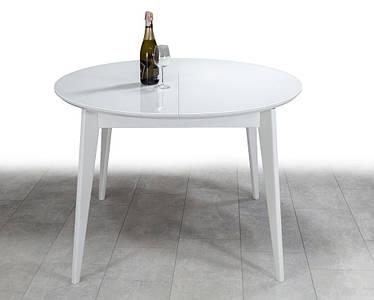 Стол круглый Равенна со стеклом DiamondGlass+NEXT