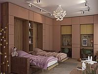 Шкаф-кровать (два раздельных спальных места) с диваном