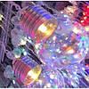Гірлянда ЛАМПОЧКИ прозорі 40мм,  20 LED, 7м,   мульті