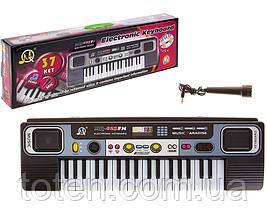 Детское Пианино - синтезатор MQ 827 USB, 37 клавиш 10 ритмов, микрофон USB