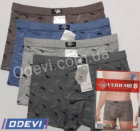 Трусы боксеры Vericoh хлопок с добавкой бамбука на тканевой резинке, фото 2