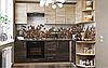 Кухня Оптима Дуб шамани тёмный + Дуб шамани светлый Эверест, фото 3