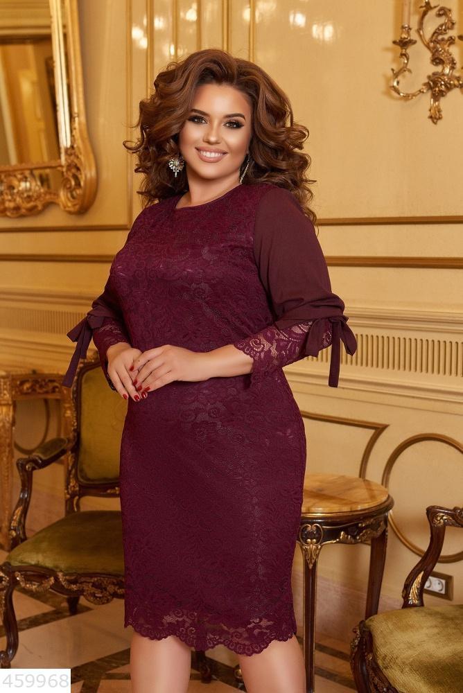 Стильное нарядное женское платье ажурное батал большие Размеры
