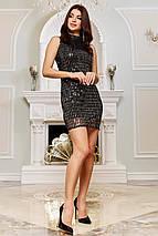 Женское облегающее мини платье из шифона-люрекса   SEV-1653, фото 2