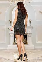 Женское облегающее мини платье из шифона-люрекса   SEV-1653, фото 3