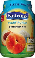 Пюре детское фруктовое Nutrino персик рис 4м+ 190г Сербия 1030021