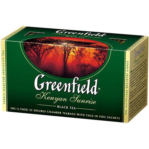 Чорний чай Greenfield Kenyan Sunrise - Кенія в пакетиках 25 шт
